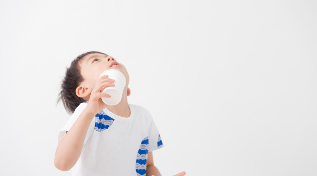 Children using Mouthwash